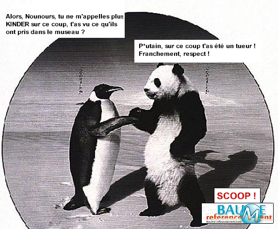 panda pingouin