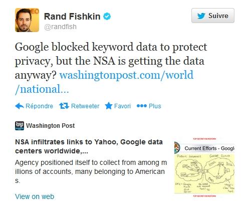 Le tweet de Rand Fishkin qui nous a alerté