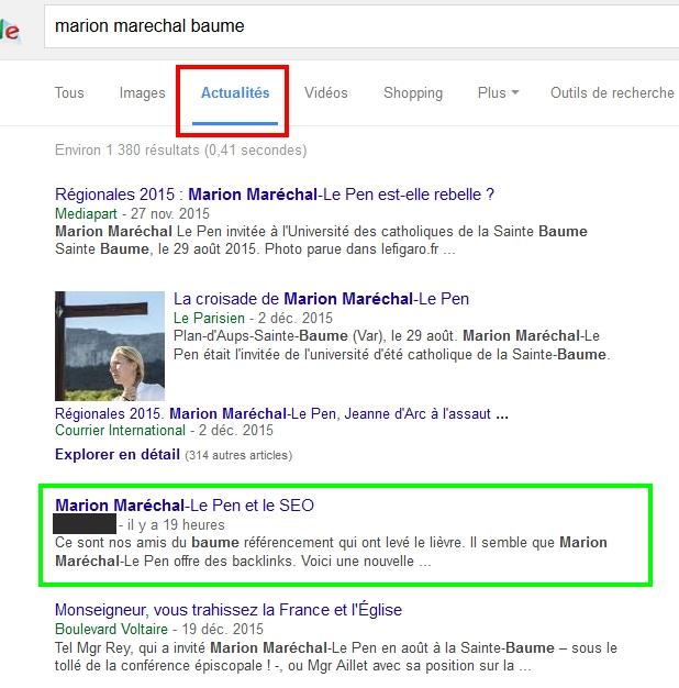 Le positionnement dans Google Actualités